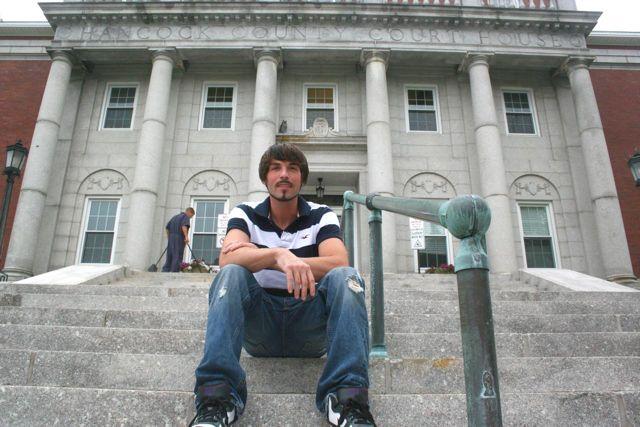 335058 dustin on steps